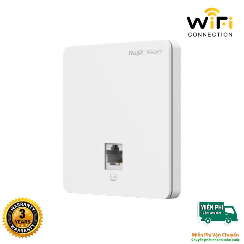 Thiết bị phát sóng WiFi Ruijie Reyee RG-RAP 1200(F) thiết kế gắn âm tường, hỗ trợ tính năng WIFI Marketing, Cloud miễn phí