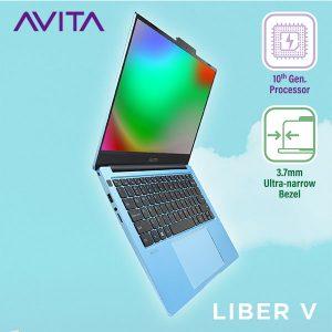 Laptop AVITA LIBER V 14 – Màu xanh Angel Blue  – INTEL CORE I5-10210U/RAM 8GB/ SSD 512GB BẢO HÀNH 24 THÁNG – TẶNG BALO – HÀNG CHÍNH HÃNG