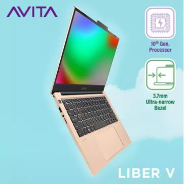 Laptop AVITA LIBER V 14 – Màu Vàng Unicorn Gold – AMD Ryzen™ 7 3700U/ RAM 8GB/ SSD 512GB/ Win 10 Home BẢO HÀNH 24 THÁNG – TẶNG BALO – HÀNG CHÍNH HÃNG