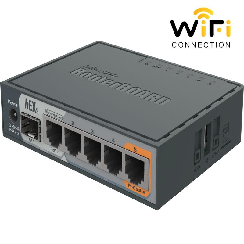 Thiết Bị Router cân bằng tải MIKROTIK RB760iGS (hEX S), Hỗ trợ 70-90 user