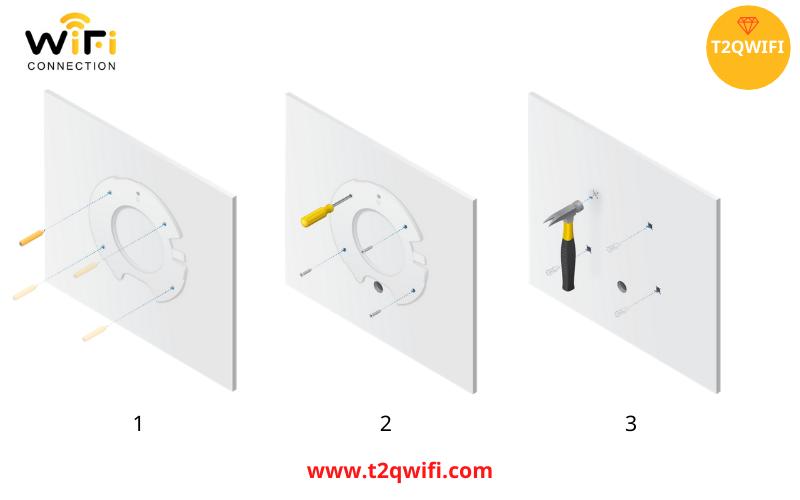 Các bước lắp đặt thiết bị phát sóng wifi WiFi UniFi UAP-AC-Pro