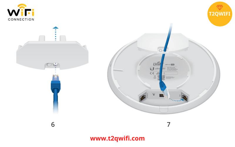 Quy trình lắp đặt thiết bị phát sóng wifi WiFi UniFi UAP-AC-Pro