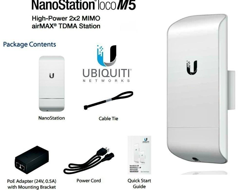 Đặc điểm kỹ thuật của Ubiquiti AirMax NanoStation Loco M5 Outdoor