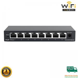 Thiết bị mạng Ruijie RG-ES108GD Switch 8-Port Gigabit Unmanaged 10/100/1000Mbps, vỏ kim loại