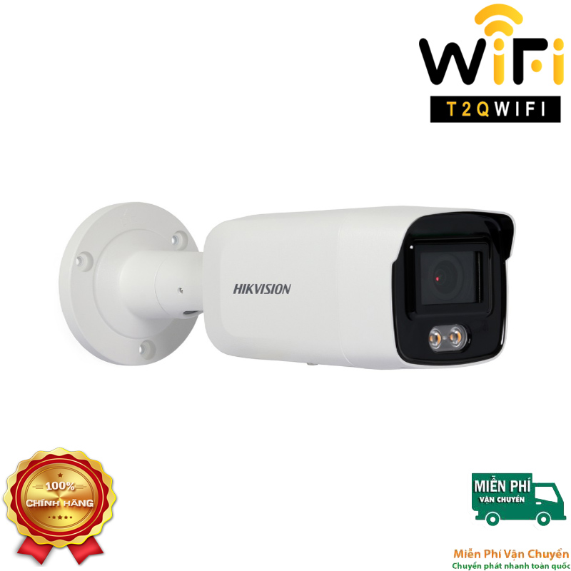 Camera IP COLORVU Thân 2MP HIKVISION DS-2CD2027G1-L có màu 24/7