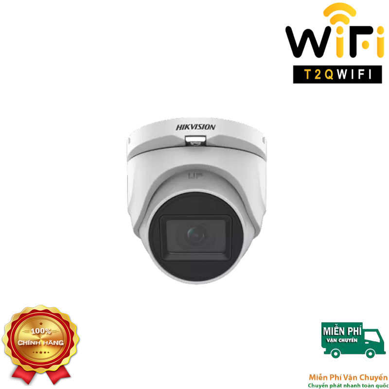 Camera HD-TVI Dome TÍCH HỢP MIC 5MP HIKVISION DS-2CE76H0T-ITMFS