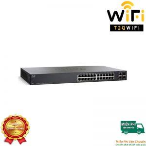 CISCO SF250-24-K9, Switch 24-Port 10/100Mbps+2 Gigabit Ethernet+2 SFP , Managed Switch