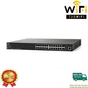 CISCO SF350-24-K9, Switch 24-Port 10/100Mbps+2 Gigabit copper/SFP+2 SFP Port , Managed Switch