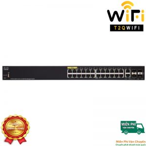 CISCO SF350-24MP-K9-EU, 24-Port 10/100 PoE+ Switch with 375W power budget