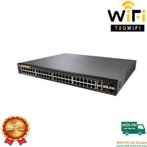 CISCO SF350-48P-K9-EU, 10/100Mbps with 382W power budget+2 Gigabit copper/SFP combo2 SFP ports Managed Switch