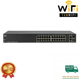 CISCO SG220-26-K9-EU, 24-port Gigabit+2-Port Combo mini-GBIT Smart Switch