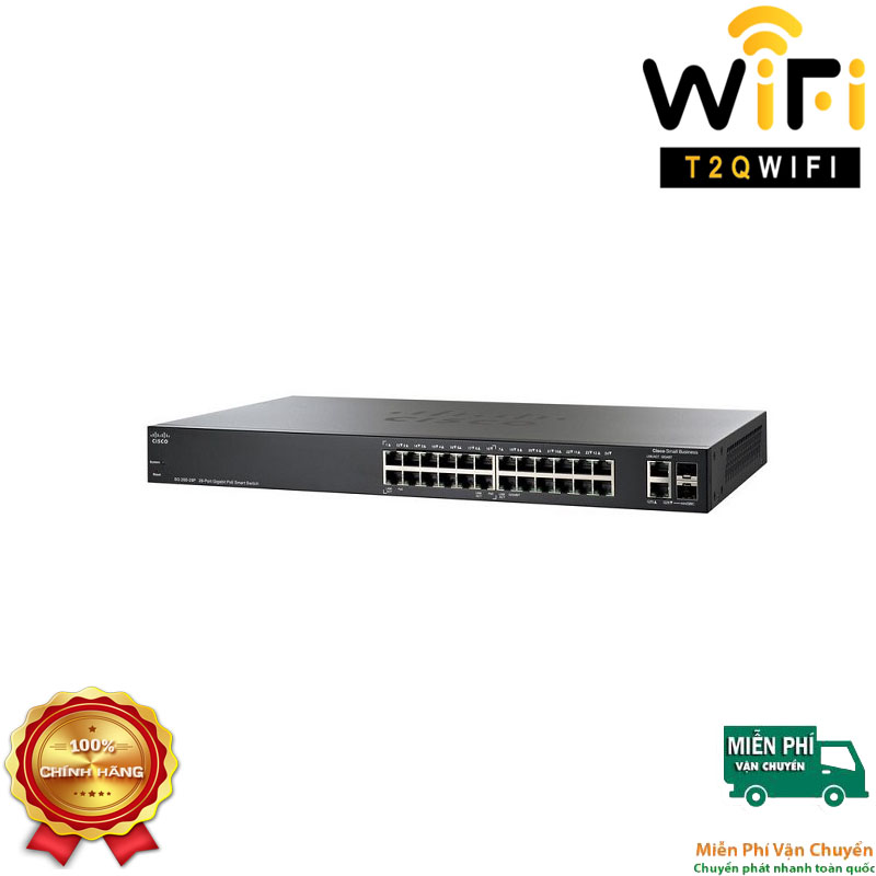 CISCO SG250-26-K9-EU, 24-port Gigabit+2-port Combo (RJ-45+SFP)Smart Switch