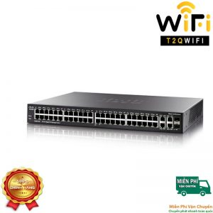 CISCO SG350-52P-K9-EU, 48-port PoE+ Gigabit with 375W power budget+2 Gigabit copper/SFP combo+2 SFP ports Managed Switch