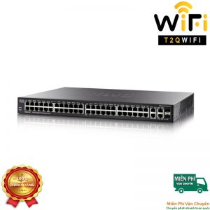 CISCO SG350-52MP-K9-EU, 48-port PoE+ Gigabit with 740W power budget+2 Gigabit copper/SFP combo+2 SFP ports Managed Switch