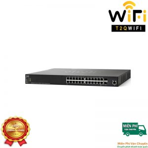 CISCO SG350X-24-K9, 24-port Gigabit Stackable Managed Switch