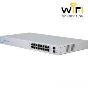 Thiết bị mạng Ubiquiti UniFi Switch US-16-150W, PoE + 16 Cổng mạng tốc độ 1G + 2 Cổng quang SFP + 1 Cổng Serial Console