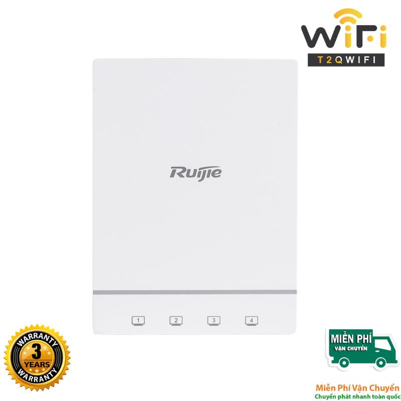 Thiết bị phát sóng WiFi Ruijie RG-AP180 thuộc thế hệ WiFi 6 với thiết kế gắn tường