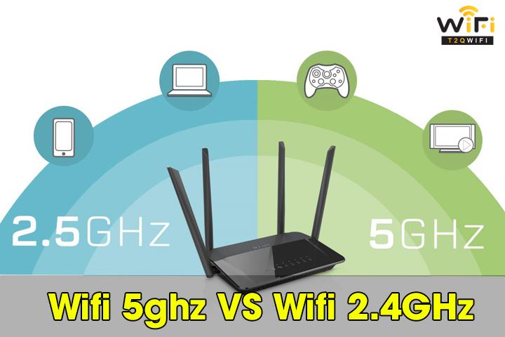 Một số điểm khác biệt giữa wifi 5ghz và wifi 2.4ghz