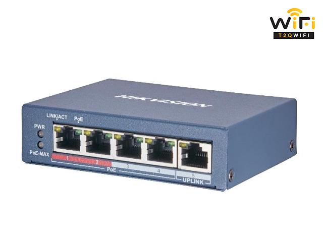 Bộ Chuyển Mạch Switch POE Hikvision DS-3E0105P-E/M chất lượng tại T2QWIFI