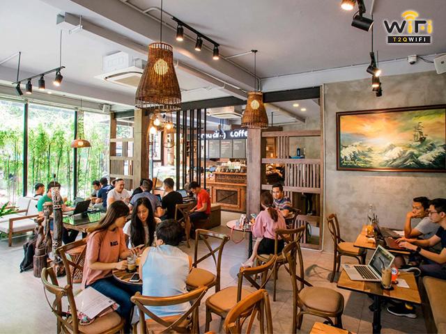 Nhu cầu sử dụng wifi tại các quán cafe, nhà hàng